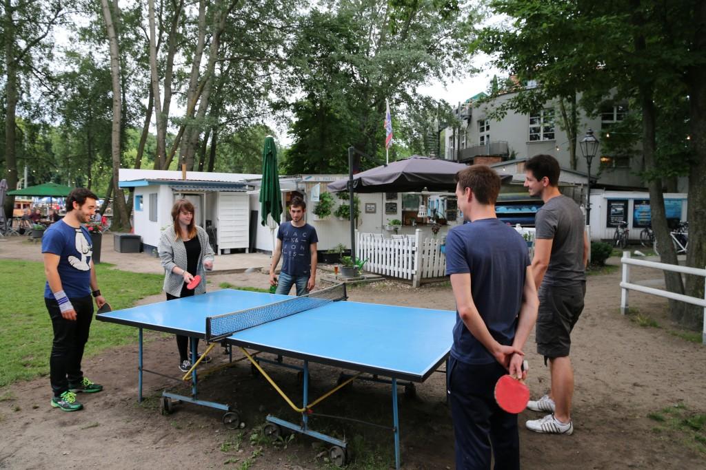 Tischtennis bei expondo