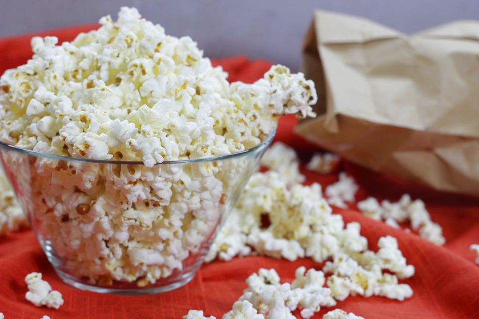 Popcorn als beliebter Snack