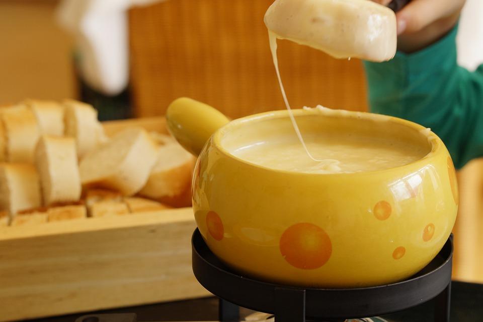 Käsefondue in der Schweiz