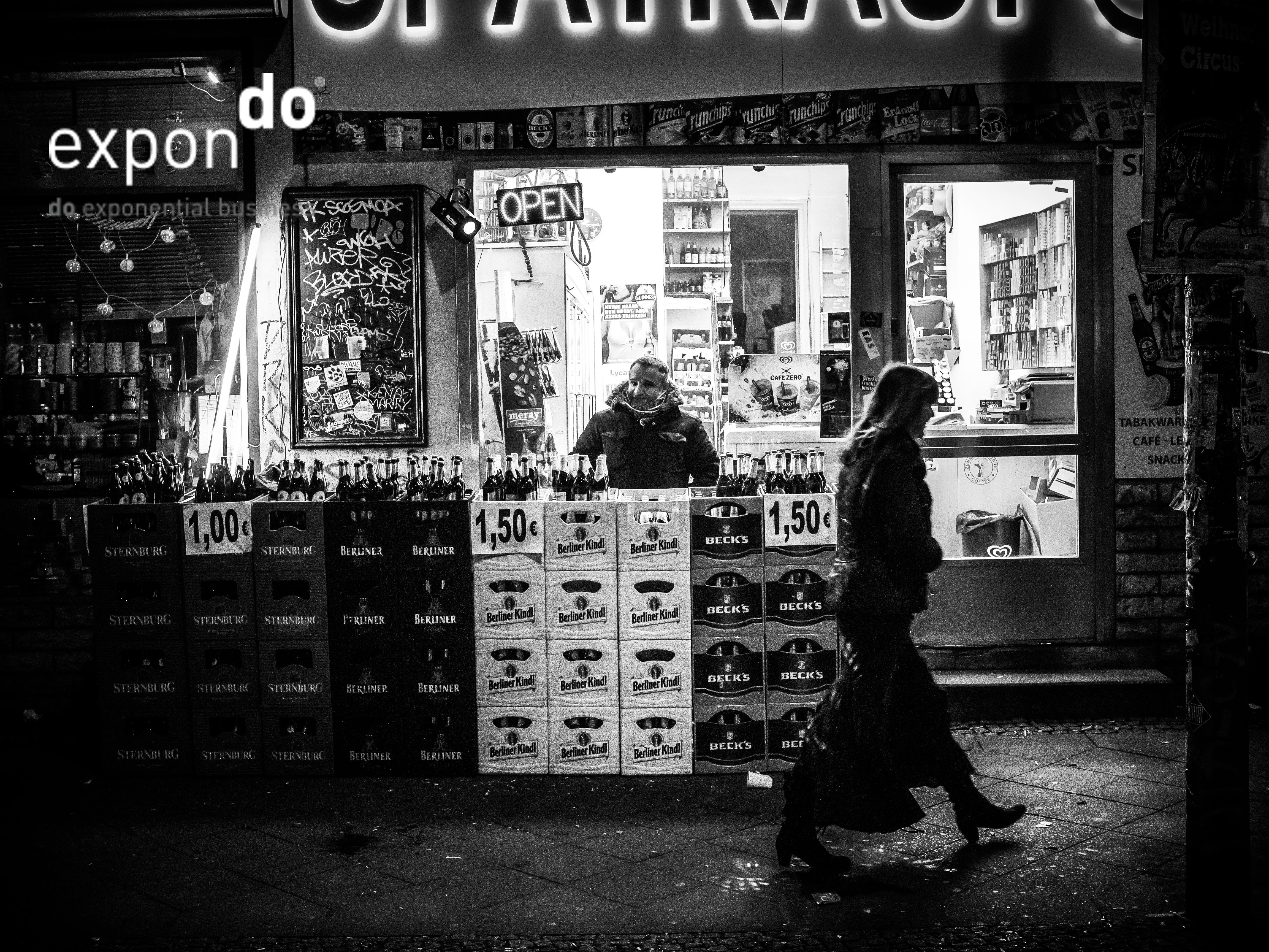 Späti Bierverkauf auf Straße