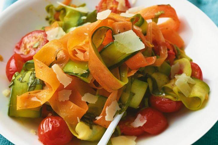 Gemüsenudeln einfach und schnell selber machen, gesund und low carb